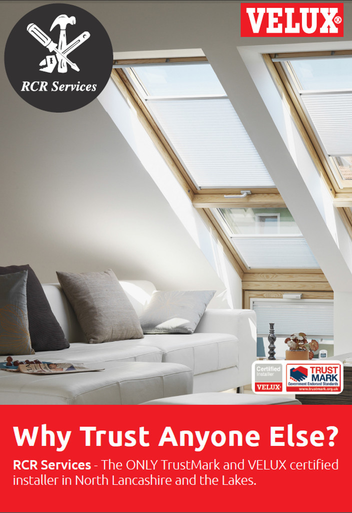 RCR Services are one of the only Certified Velux Installers in the North West