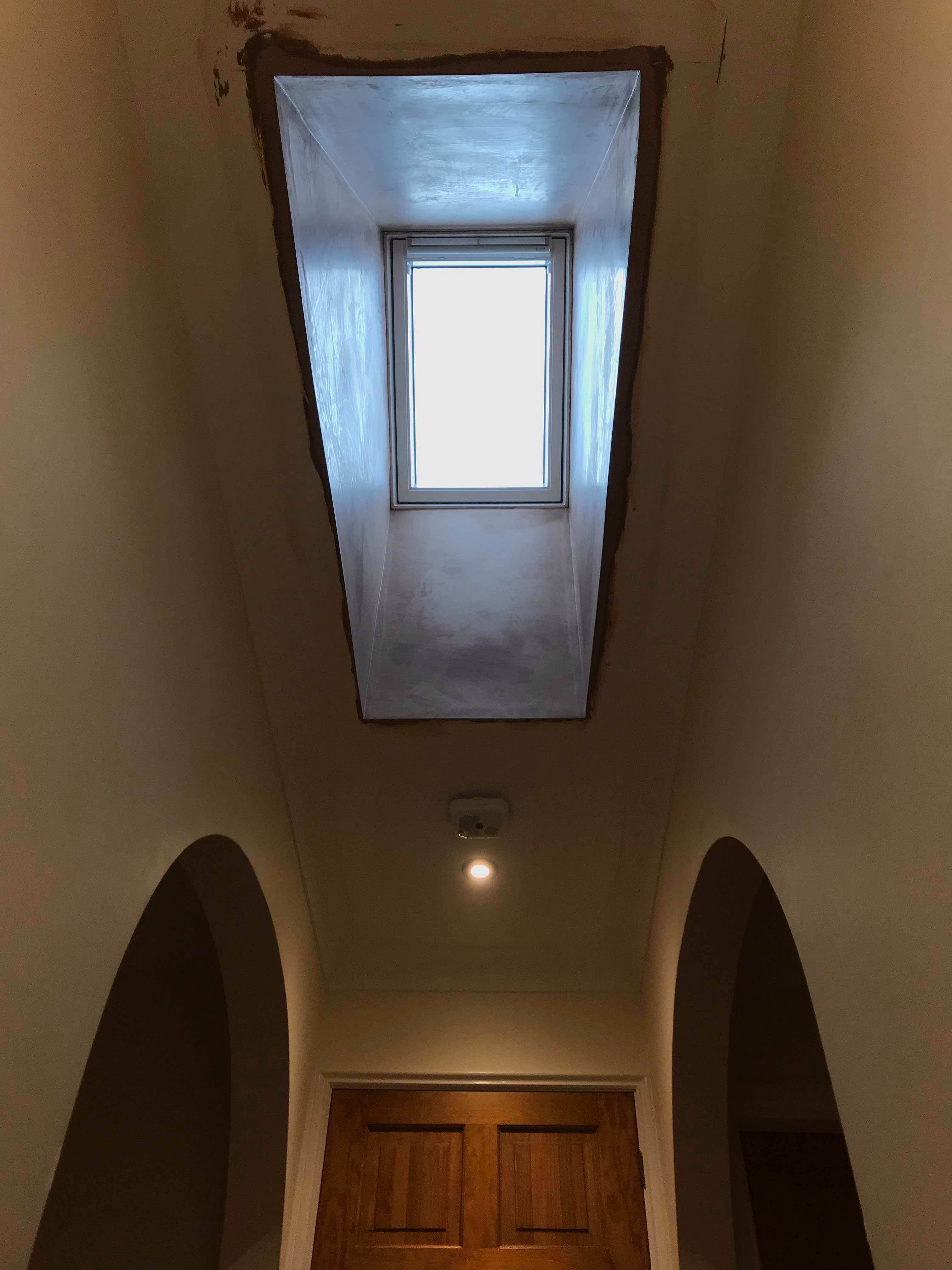 Vaulted Velux window installation
